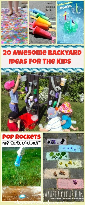 20 Awesome Backyard Ideas For The Kids
