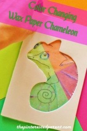 Coloer Changing Wax Paper Chameleon with Free Traceable