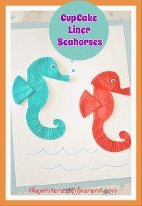 Cupcake Liner Seahorses