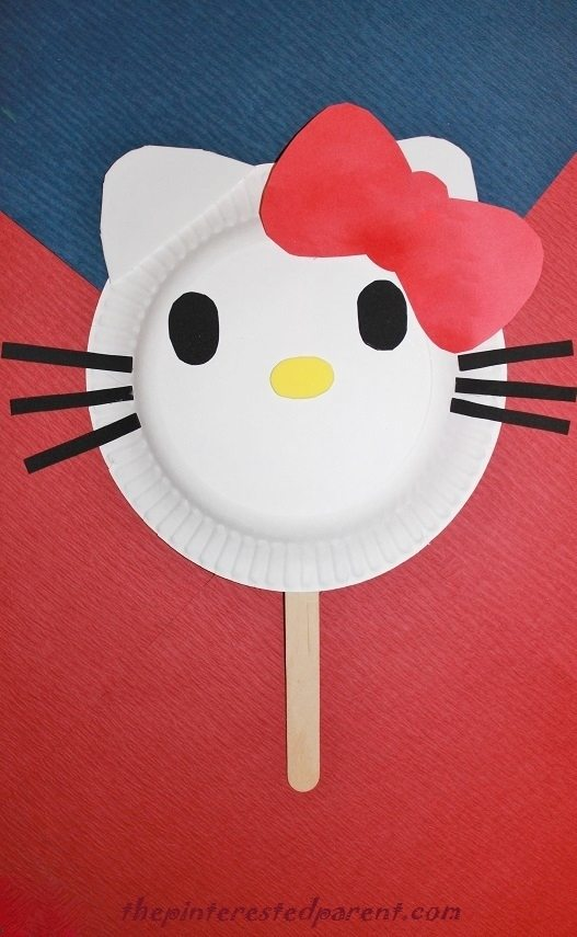 Hello Kitty Paper Plate Mask & Hello Kitty Paper Plate Mask u2013 The Pinterested Parent