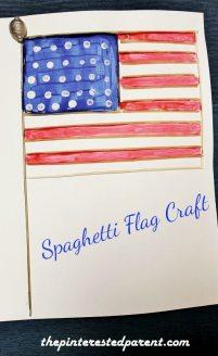 Spaghetti Flag Craft