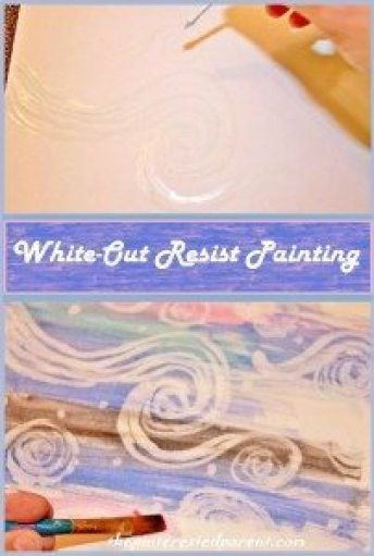 White Out Resist Painting