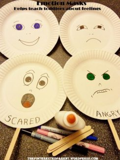 Paper Plate Emotion Masks