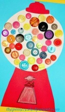 Button Gumball Machine Craft