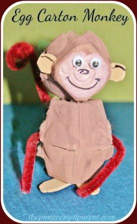 Egg Carton Monkeys