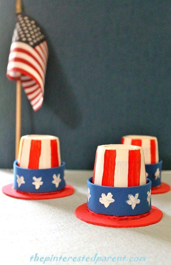 Mini Uncle Sam Dixie Cup Hats The Pinterested Parent