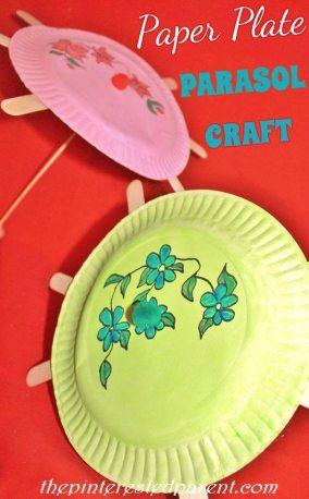 Paper Plate Parasol