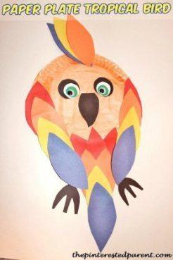 Paper-Plate-Tropical-Bird-Craft