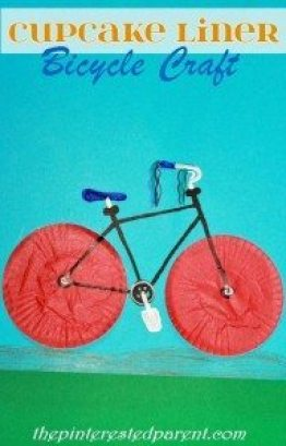 Cupcake Liner Bicycle Craft