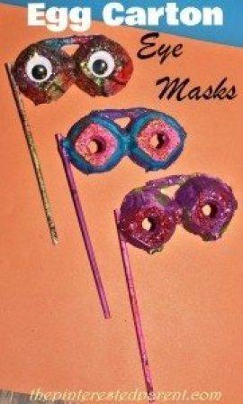 Egg Carton Eye Mask Craft
