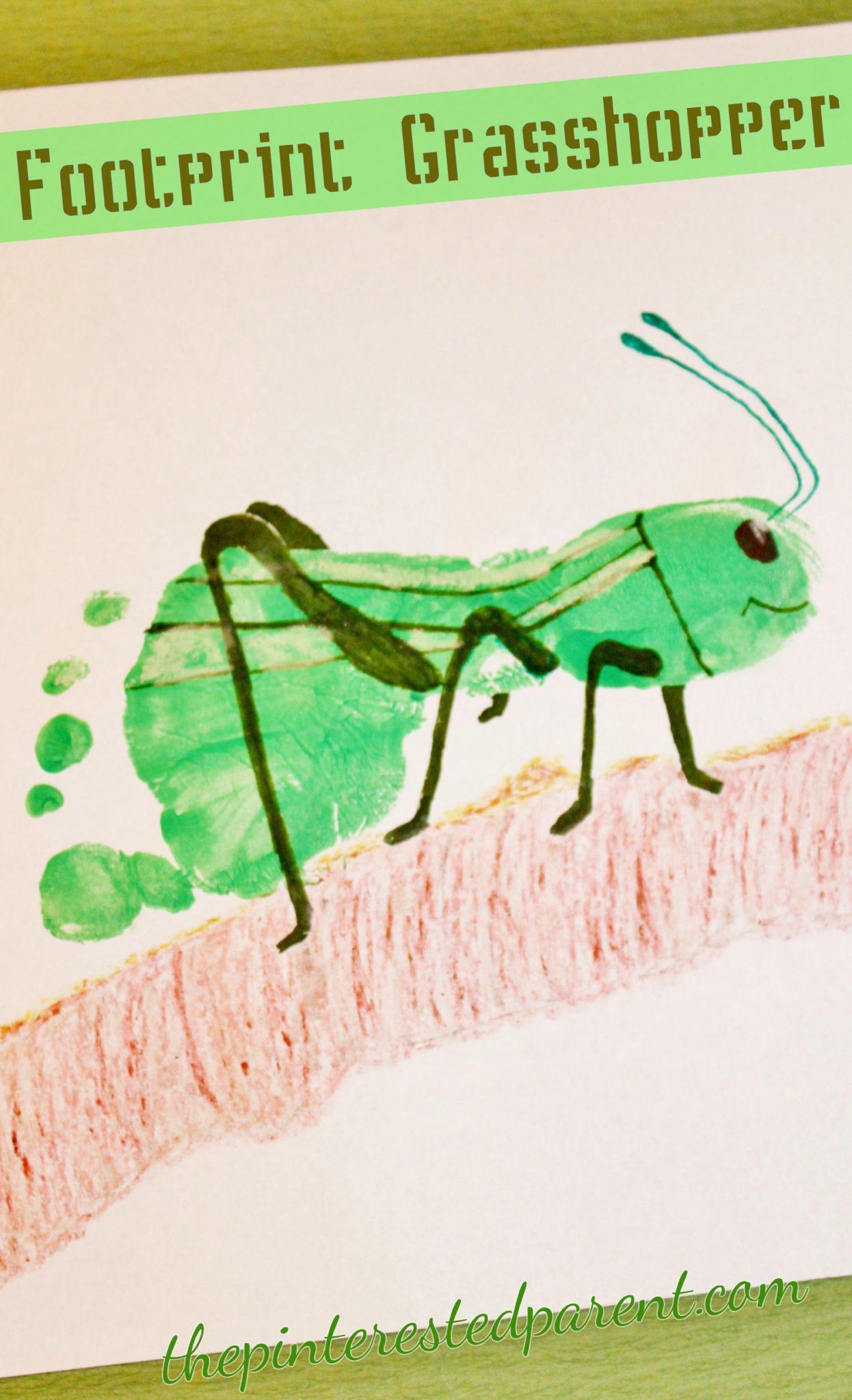 Footprint Grasshopper Craft The Pinterested Parent