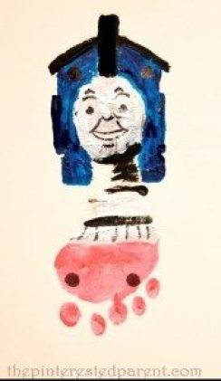 Thomas the Train footprint craft