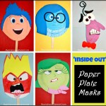 Inside Out Paper Plate Masks The Pinterested Parent