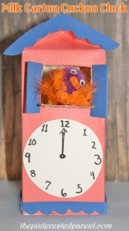 Milk Carton Cuckoo Clock - With a cuckoo that really pops out