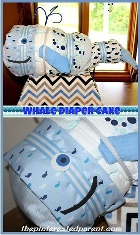 How To Make A Whale Shaped Diaper Cake