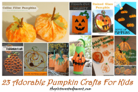 23 Adorable Pumpkin Crafts For Kids For The Fall