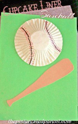 3D Cupcake Liner Baseball Craft