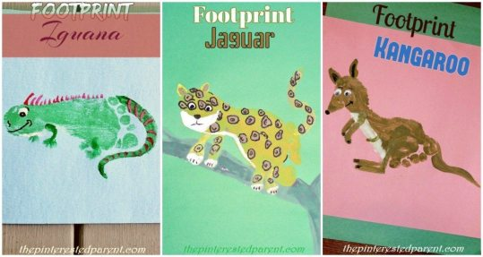 Footprint Crafts from A-Z featuring I,J & K