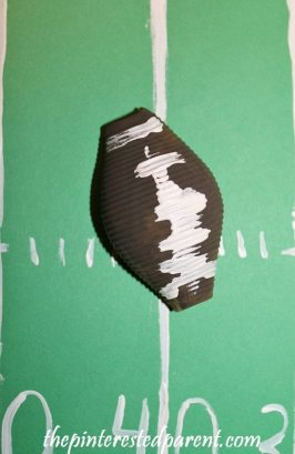 Pasta Shell football craft for kids