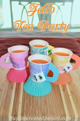 Jello tea party - These cute Dixie Cup crafts look like little tea cups & are filled with Jello