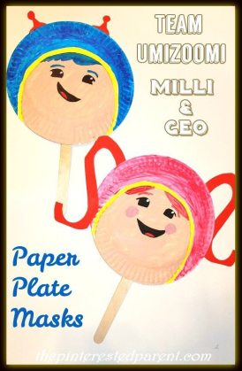 Paper Plate Team Umizoomi Character Masks - Milli & Geo