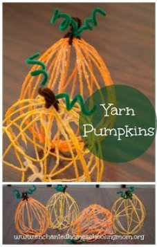 Yarn-Pumpkin-Kids-Craft