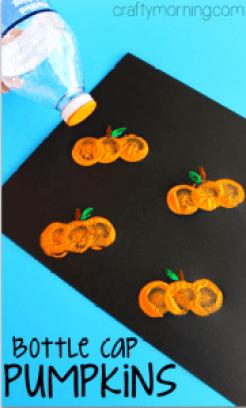 bottle-cap-pumpkin-stamping-craft-for-kids