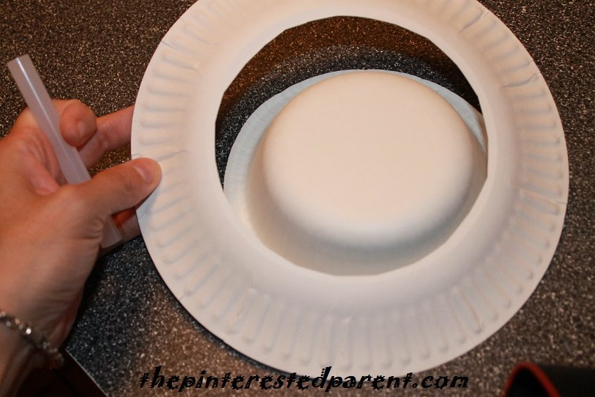 Place the paper plate over the bowl u0026 glue them together. & Paper Plate Witch Hat u2013 The Pinterested Parent