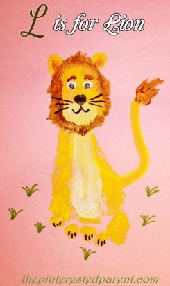 L is for lion footprint craft