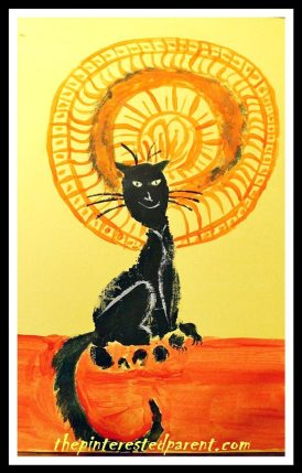 Le Chat Noir Inspire Footprint Craft