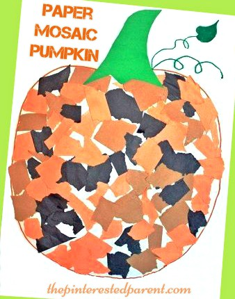 Mosaic Pumpkin Craft For Kids