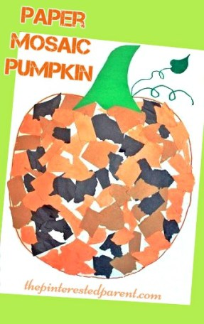 Mosaic Pumpkin Craft For Kids – The Pinterested Parent