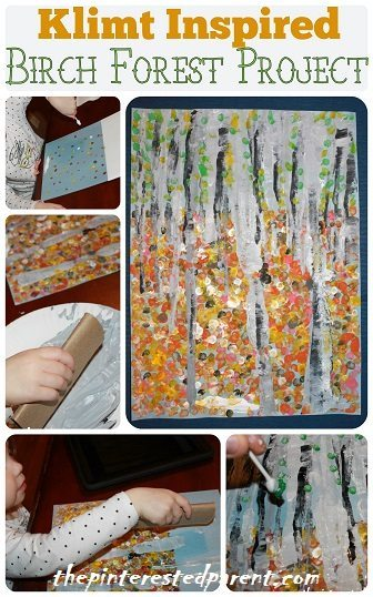 Gustav Klimt S Birch Forest Inspired Craft The Pinterested