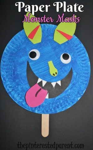 Paper Plate Shape Monster Masks The Pinterested Parent