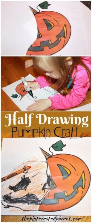 half drawing art activity - This is a great activity for kids