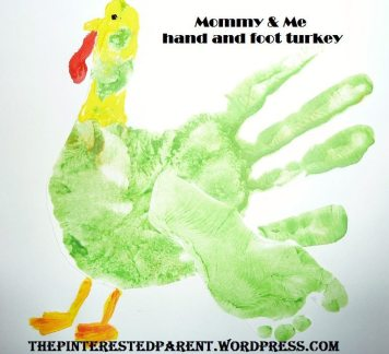 Hand & Footprint turkey for Thanksgiving