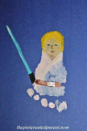 Footprint Inspired by Luke Skywalker from Star Wars