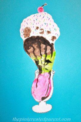 Footprint Ice Cream Sundae