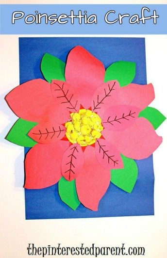 Paper Plate Poinsettia Craft For Kids For Christmas