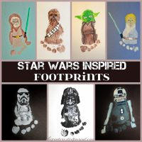 Star Wars Inspired Footprints