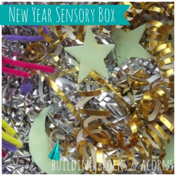 New Year's Sensory Bin from Learning and Exploring Through Play