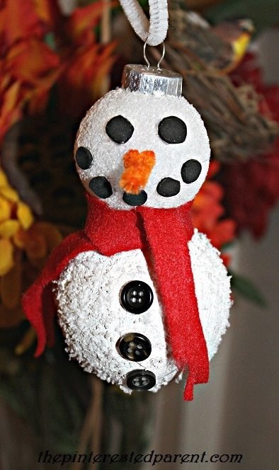 DIY Snow man Christmas ornament