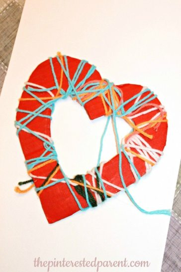 Yarn Wrapped Hearts - Fine motor Activity & Craft
