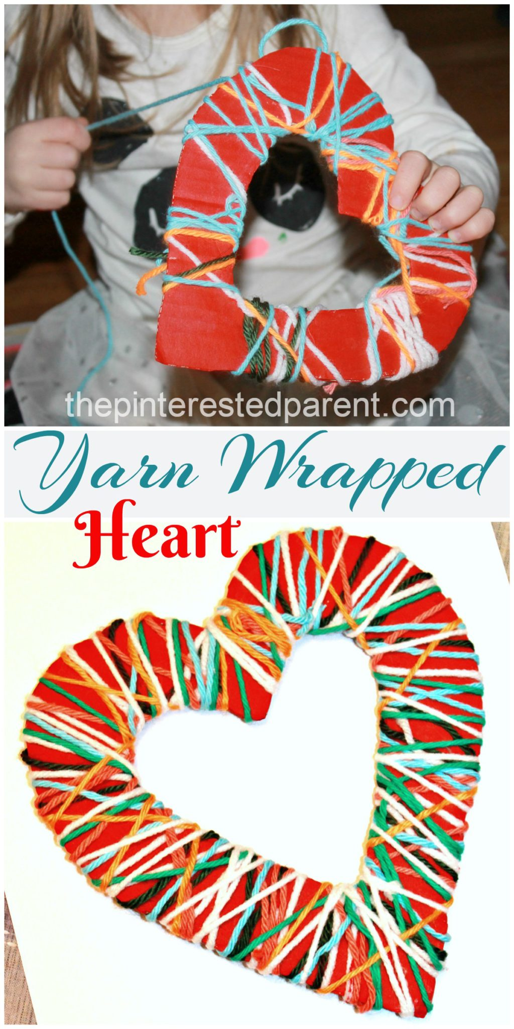 Yarn Wrapped Hearts The Pinterested Parent