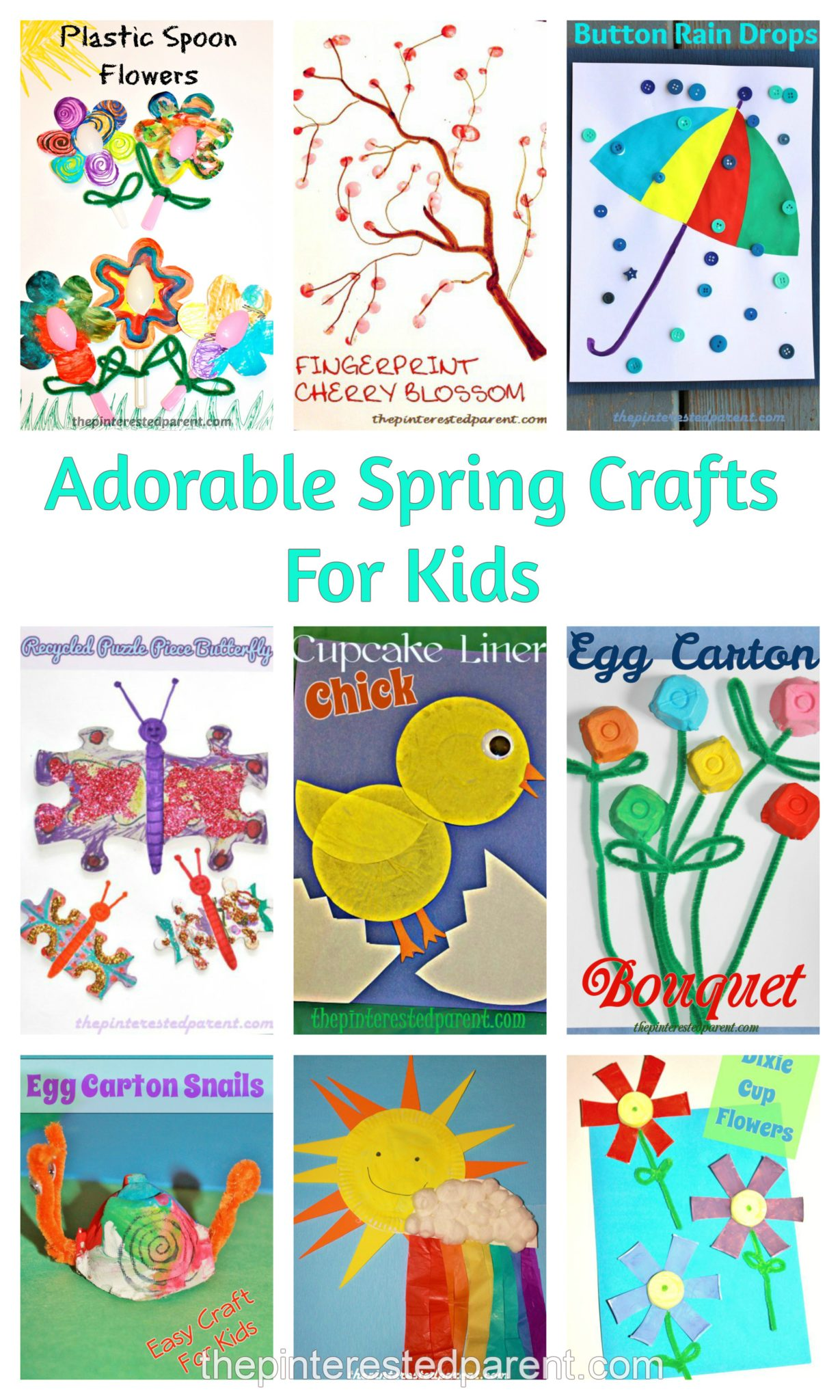 Cute Simple Spring Crafts For Kids on Paper Plate Umbrella Craft