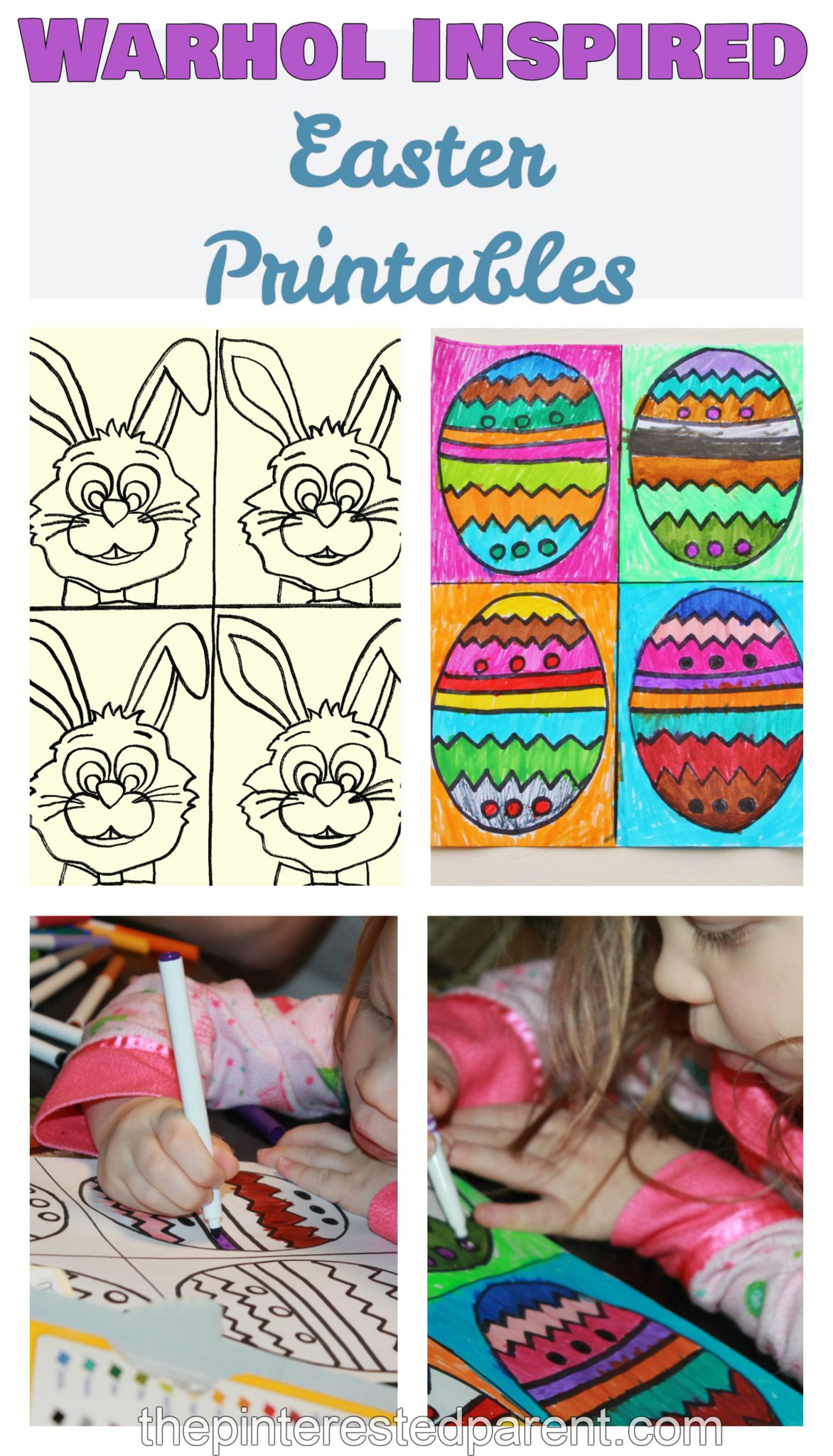 Warhol Inspired Easter Art The