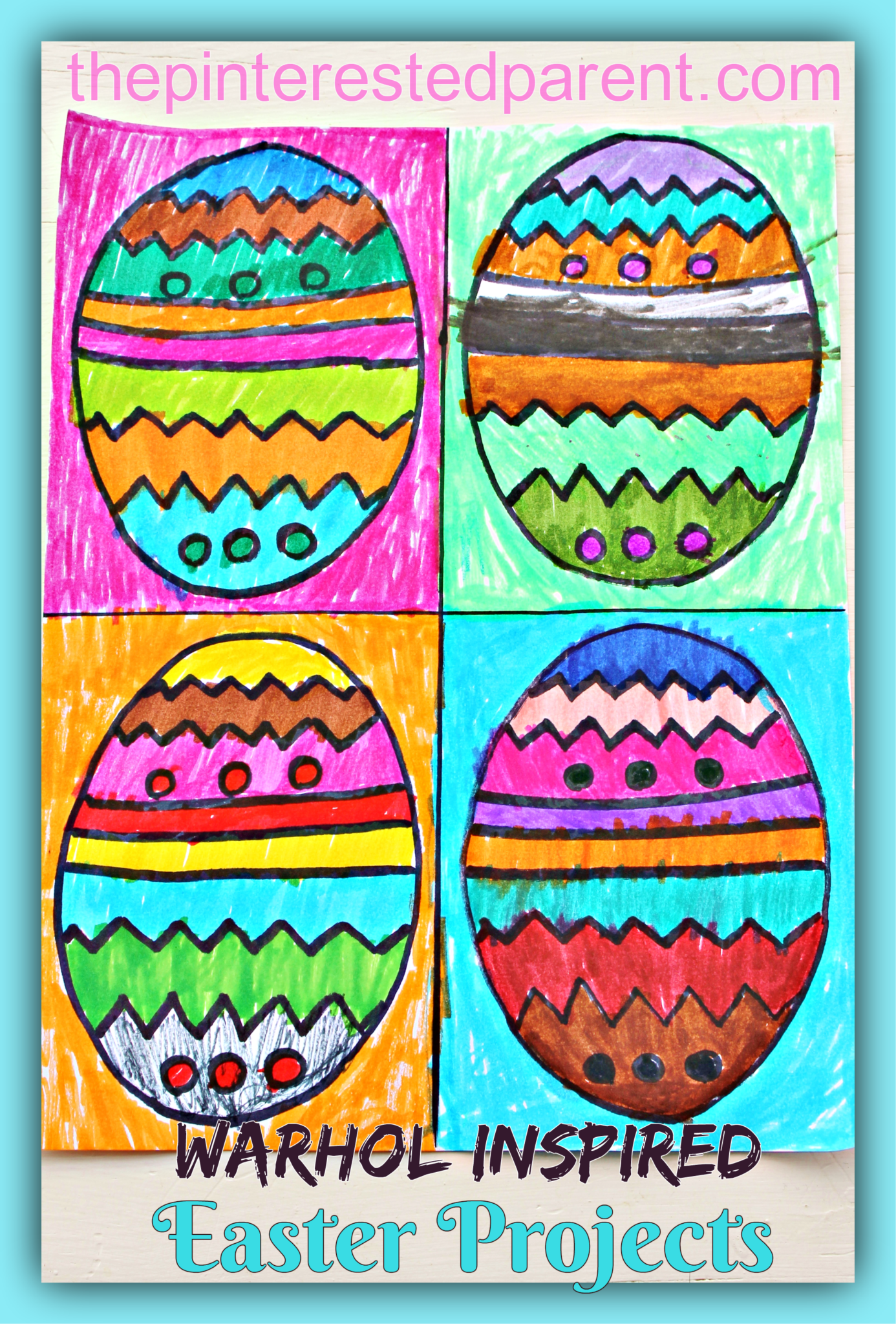 Warhol Inspired Easter Art The Pinterested Parent