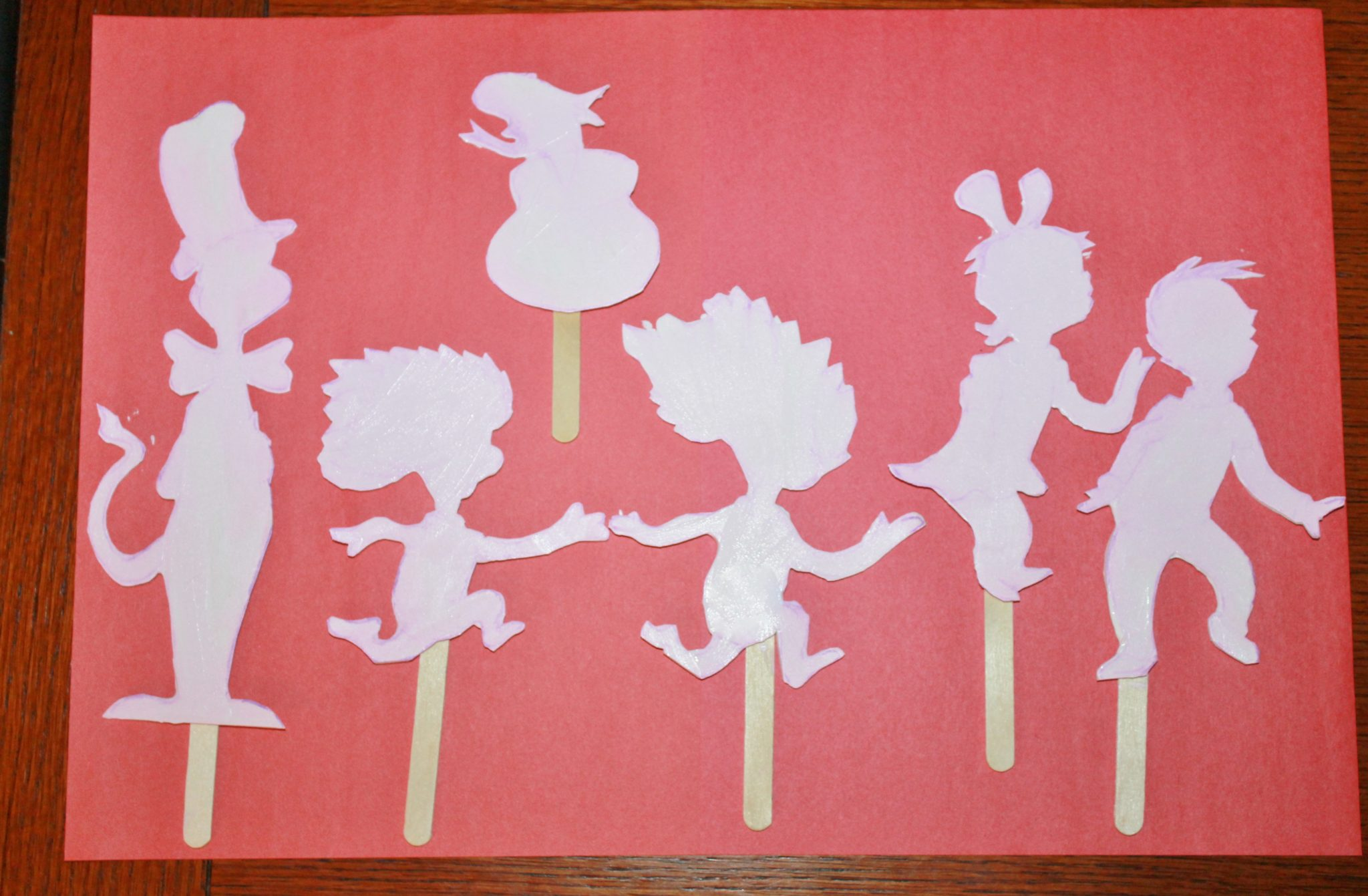 Dr Seuss Shadow Puppets Free Printable Cut Outs The