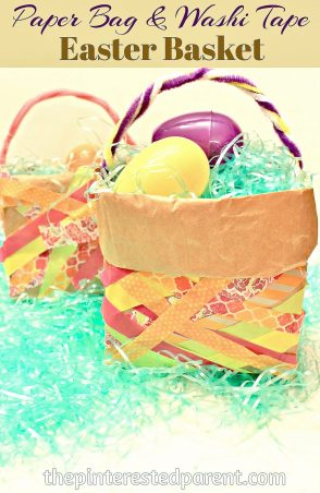 Paper Bag & Washi Tape Kid's Easter Basket Craft
