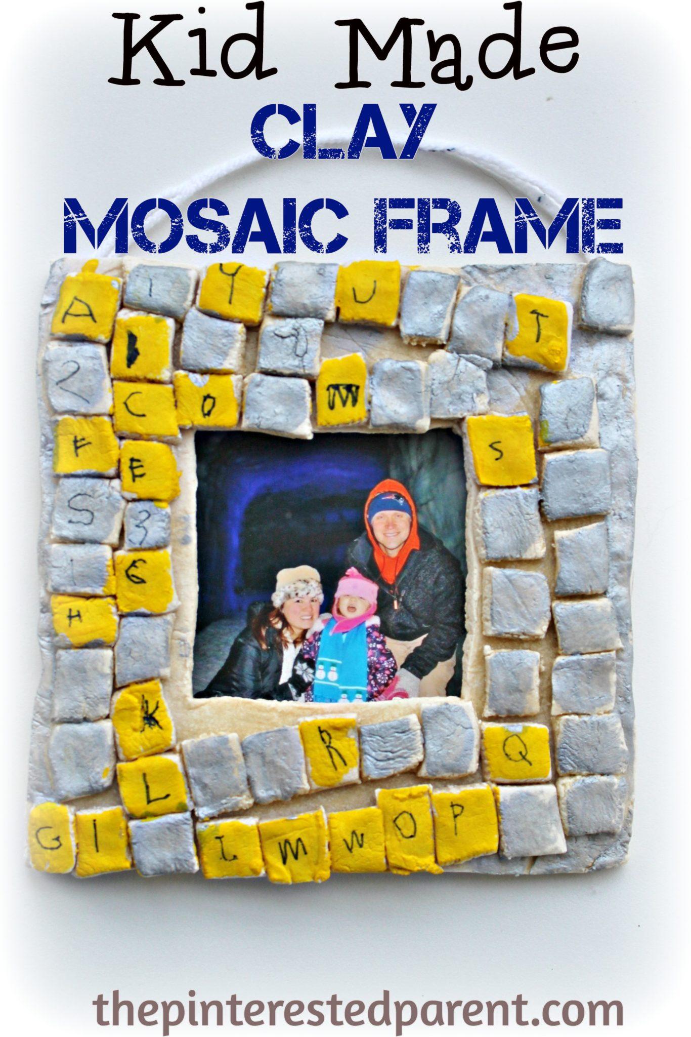 Salt Dough Mosaic Frames – The Pinterested Parent
